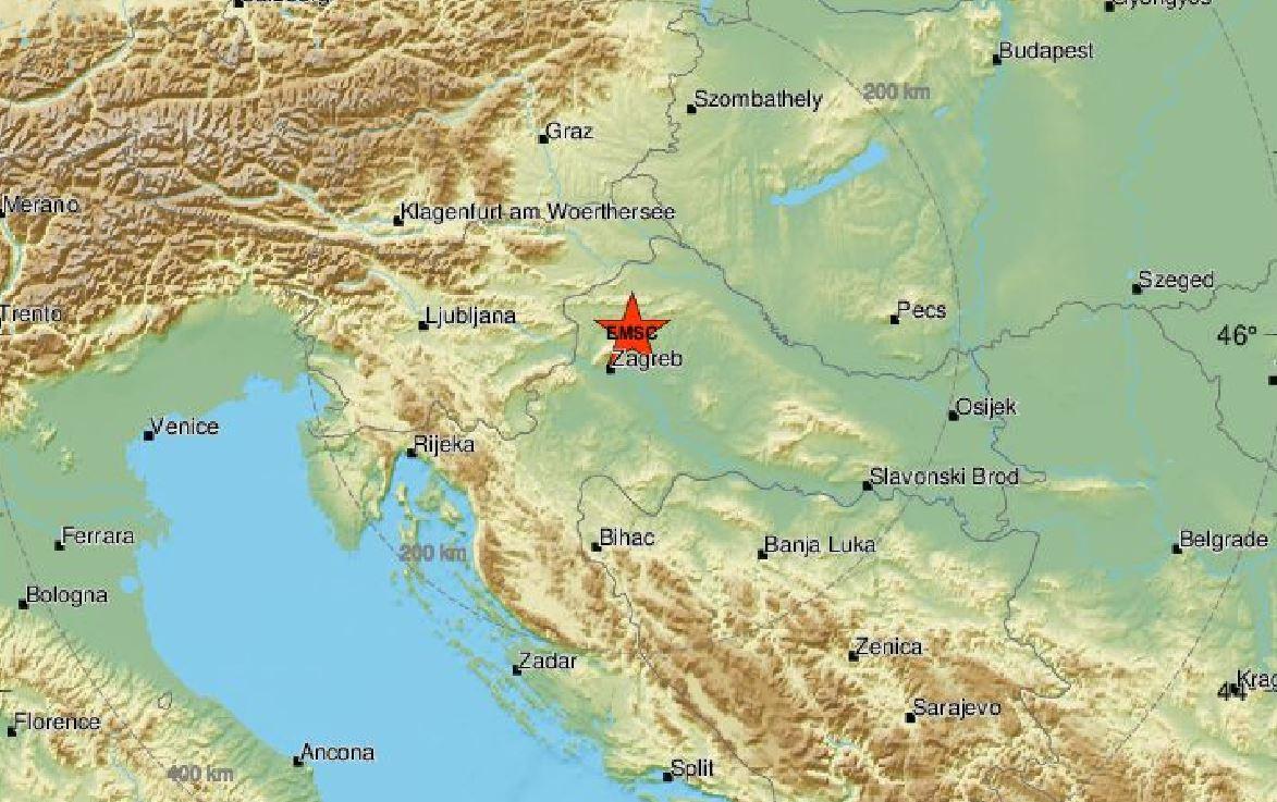 Terremoti M 3.4 in Croazia e M 2.7 al largo di Ravenna