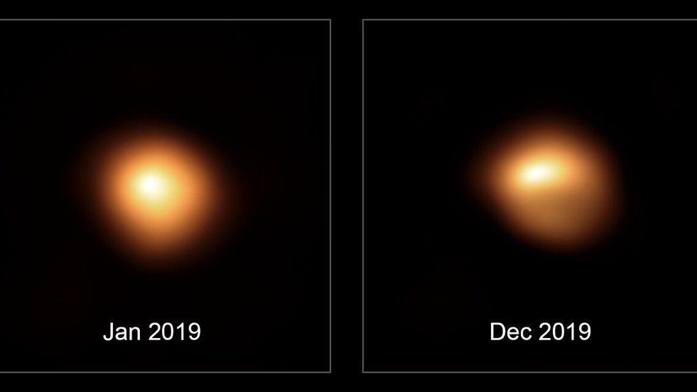 Betelgeuse si sta trasformando: le prime immagini della supergigante