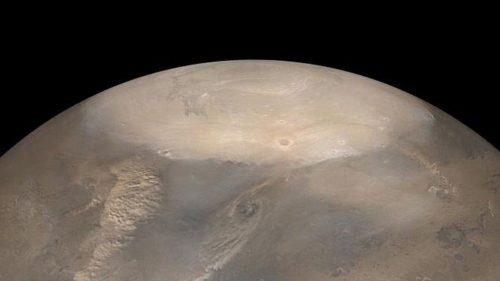Marte: crolla il ghiaccio del Polo Nord. Le immagini