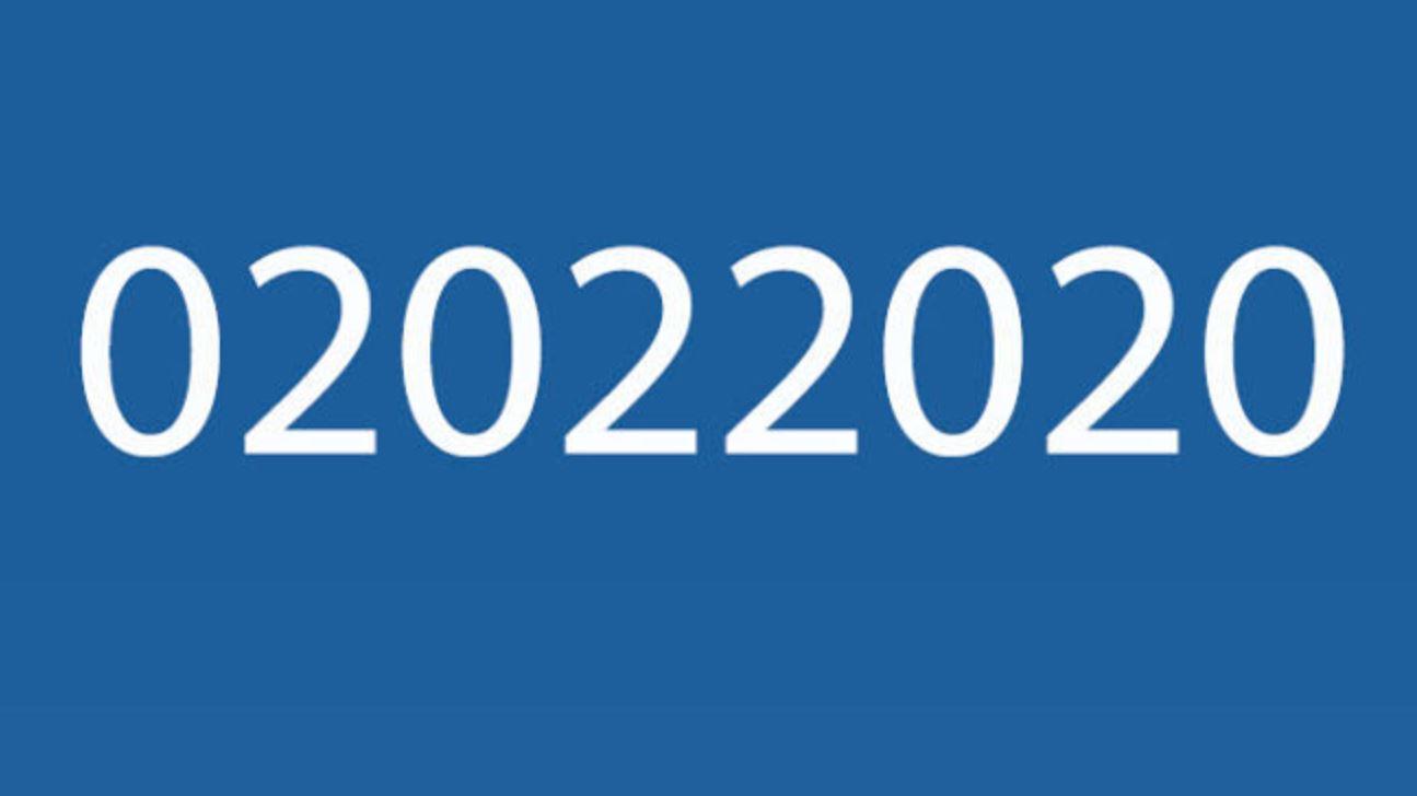 Oggi, 02/02/2020 è una data palindroma mondiale: non succedeva da quasi mille anni