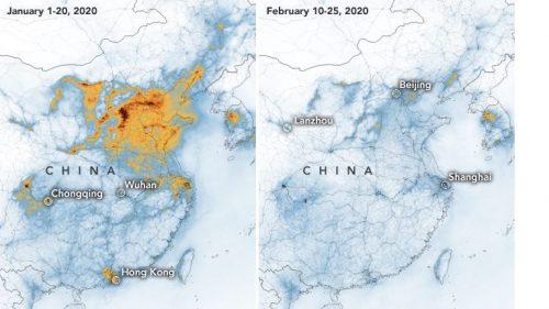 Cina: la NASA mostra impressionante calo di biossido di azoto