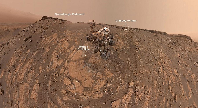 Marte regala emozioni: il selfie di Curiosity sul Greenheugh Frontiment