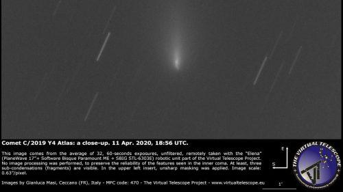 Atlas: la cometa si frammenta. Non sarà visibile a maggio