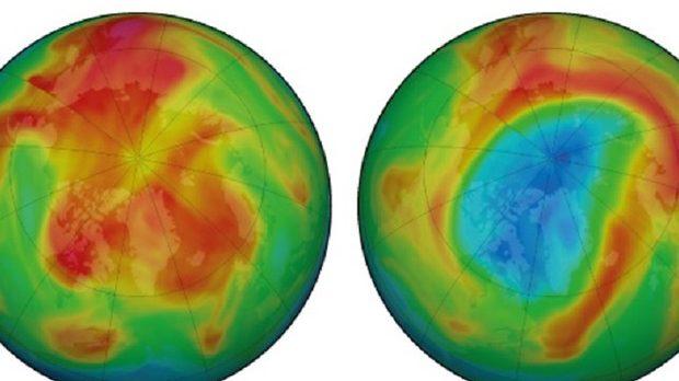 Buco dell'ozono da record al Polo Nord