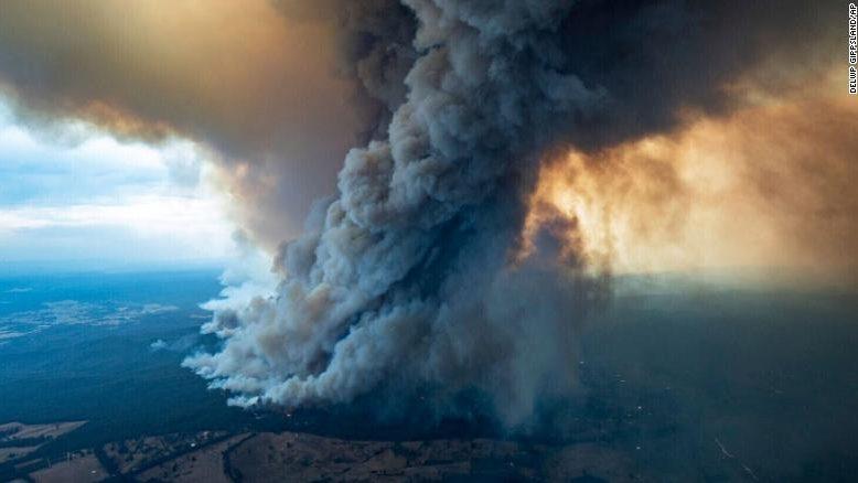 La nube degli incendi in Australia ancora in atmosfera