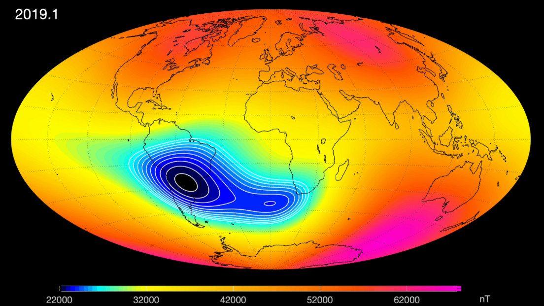 Terra: si conferma l'indebolimento del campo magnetico
