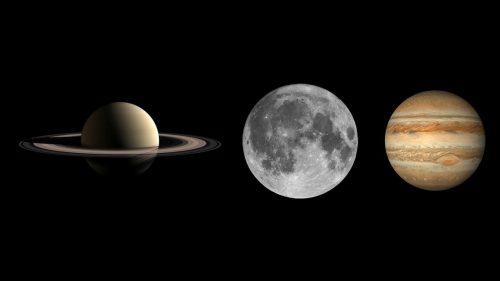 Congiunzione Luna, Saturno e Giove. In arrivo uno spettacolare triangolo