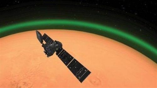 Marte: identificato un bagliore verde in atmosfera