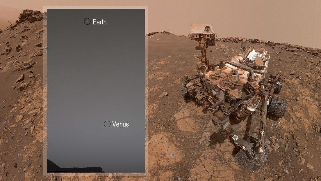 Venere e Terra fotografati da Marte: l'ultimo scatto di Curiosity