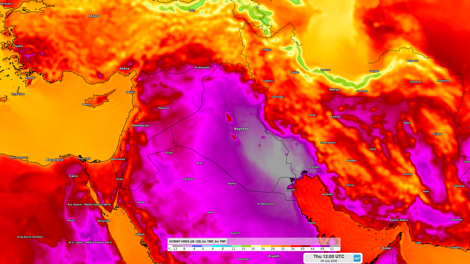 Temperature record in Medio Oriente: oltre 50 gradi in Iraq