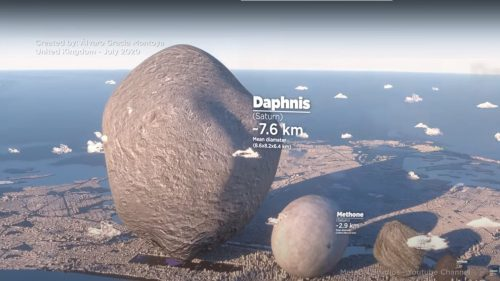 Spazio: come apparirebbero i satelliti del Sistema Solare sul nostro pianeta? Il video