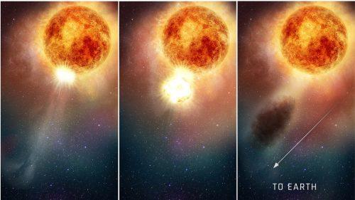 Betelgeuse: scoperta l'origine del misterioso calo di luminosità della supergigante