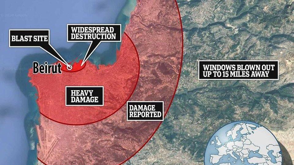 Esplosione di Beirut: liberato materiale tossico. Le autorità: 'Lasciate l'area'