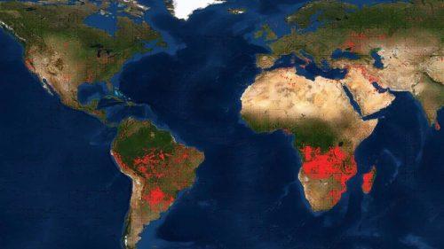 La mappa degli incendi della NASA rivela roghi in tutto il mondo
