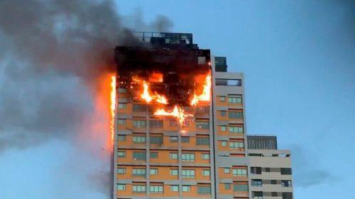 Madrid: incendio distrugge un albergo nel centro città