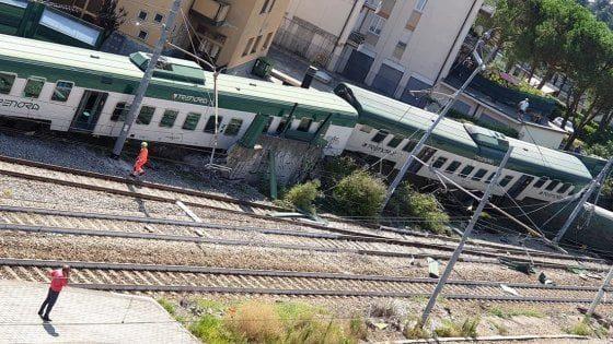Deraglia treno sulla linea Milano Lecco