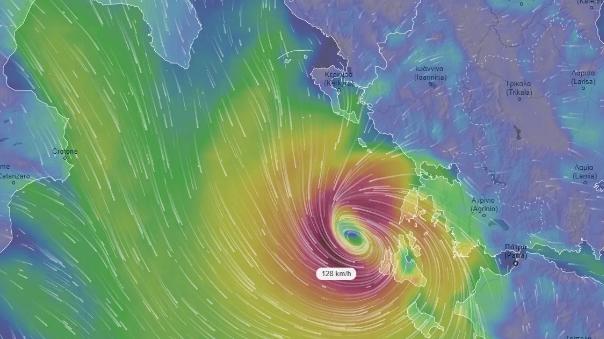Ciclone tropicale mediterraneo in formazione. Eventi estremi sullo Ionio
