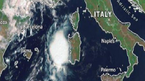 Ciclone mediterraneo sulla Sardegna: piogge record a Cagliari