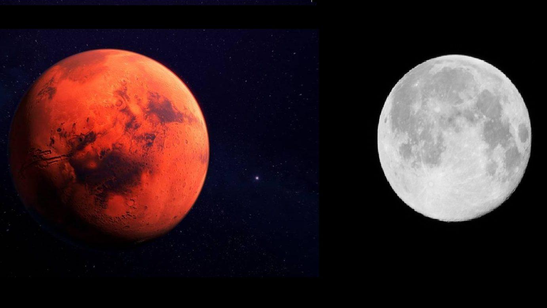 Congiunzione Luna – Marte: poche ore allo spettacolo astronomico