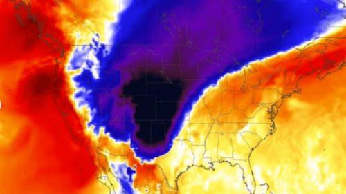 USA: improvviso fronte freddo dal Canada. Temperature da 40 a 0 gradi in poche ore