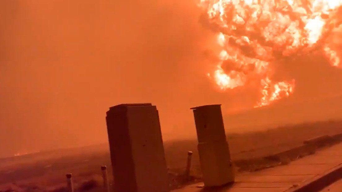 Oregon: una palla di fuoco di innalza dal terreno. Il video di un automobilista