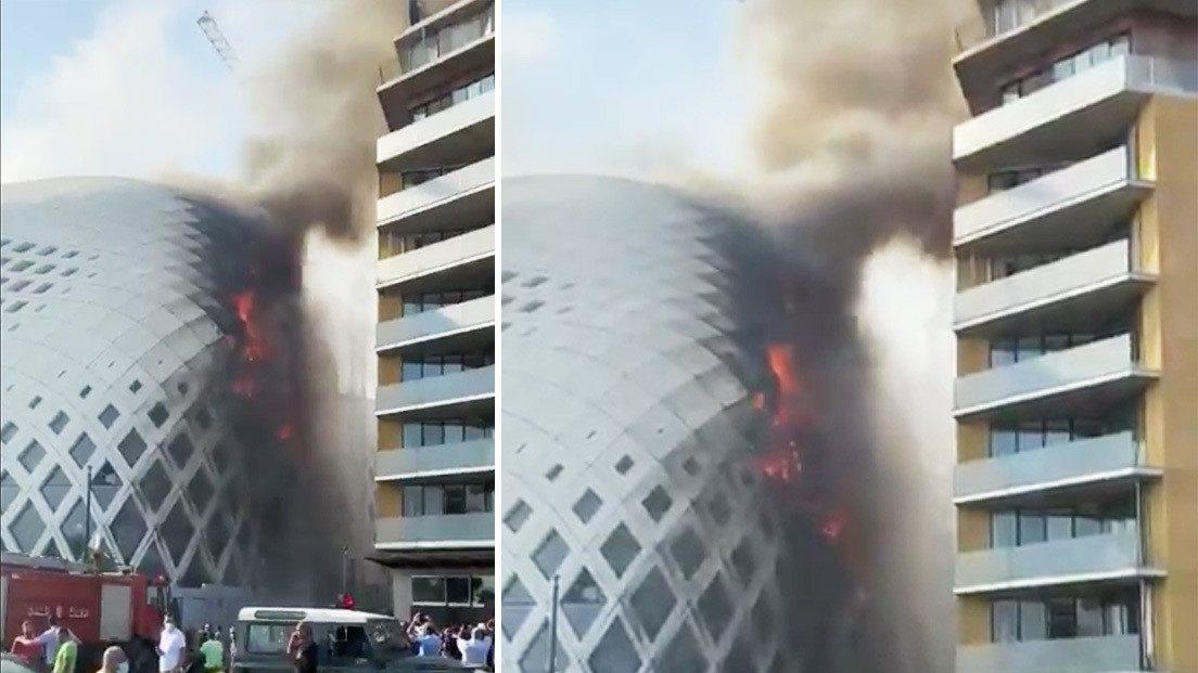 Beirut: incendio divora edificio progettato da Zaha Hadid