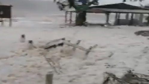 Grecia: il ciclone mediterraneo colpisce la costa ionica. La schiuma invade Itaca