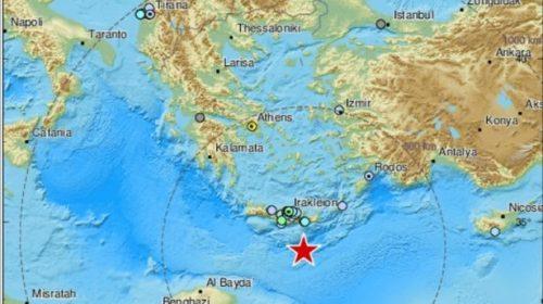 Terremoto Grecia: scossa 5.9 gradi a largo di Creta