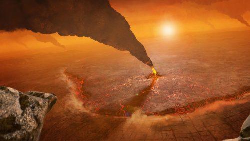 Come appaiono le eruzioni su Venere? L'immagine della NASA