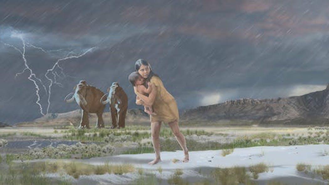 Paleontologia: scoperte impronte di una donna con un bambino di 10mila anni fa