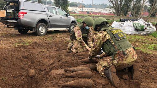 Trigoria: scoperte 15 bombe vicino al Centro Sportivo della Roma