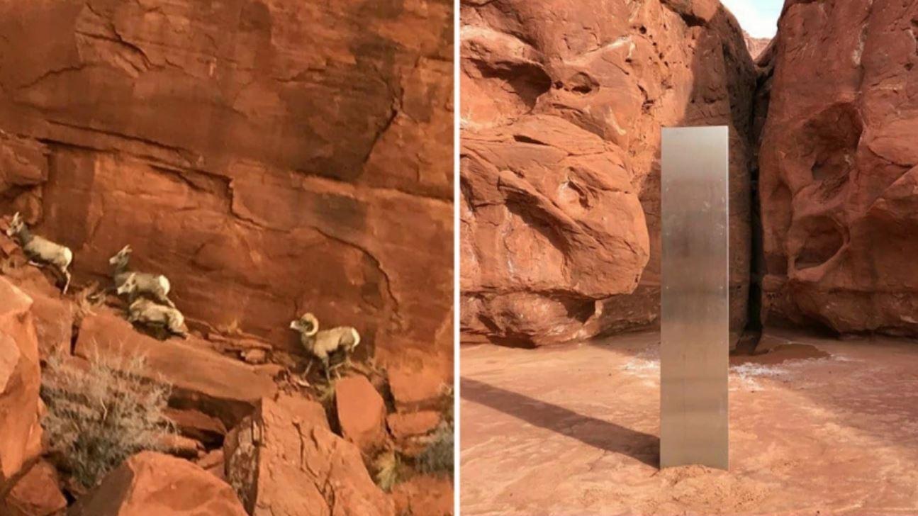 Scoperto un misterioso monolite di metallo tra le montagne rocciose dello Utah