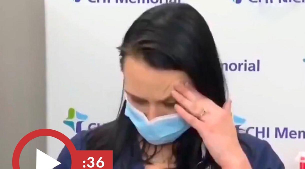 USA: infermiera sviene 'in diretta' dopo il vaccino anti-COVID. Il video