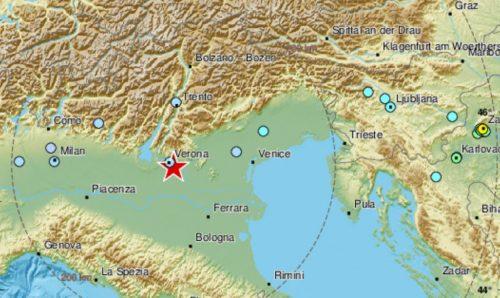 Terremoto di magnitudo 4.4 nel Veronese: migliaia di segnalazioni