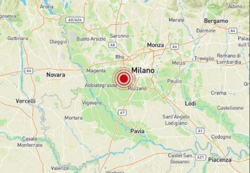 Terremoto vicino a Milano: scossa di magnitudo 3.8  distintamente avvertita