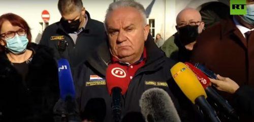Terremoto Croazia: forte replica interrompe intervista al sindaco di Petrinja. Il video
