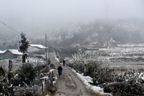 Vietnam e Laos imbiancati da eccezionale nevicata. Le immagini