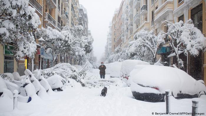 Riscaldamento atmosferico improvviso spinge aria polare in Europa: 3 morti in Spagna