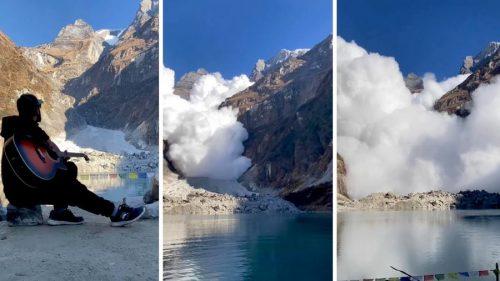 Nepal: turisti filmano discesa di una valanga e vengono travolti