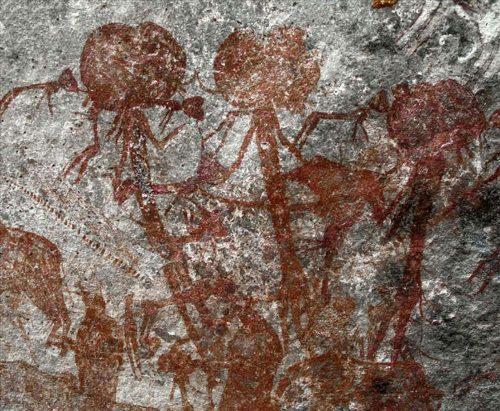 In Tanzania pitture rupestri con 'sconcertanti' figure antropomorfe