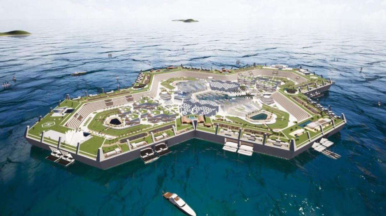 Un'isola artificiale galleggiante al largo di Miami: dai monolocali a ville da un miliardo