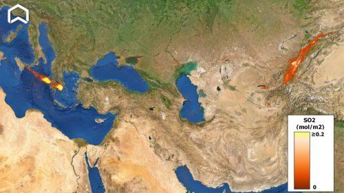 Etna: la nube di anidride solforosa raggiunge la Cina
