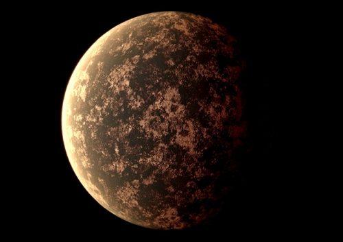 La notte eterna del pianeta LHS 3844b 'illuminata' dalle eruzioni vulcaniche