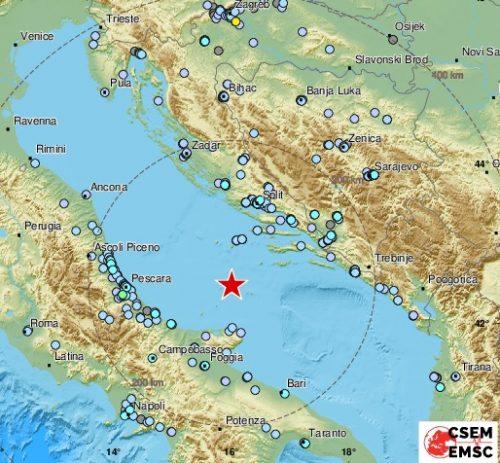 Terremoto Adriatico: scossa di 5.9 gradi. Paura al Centro Sud
