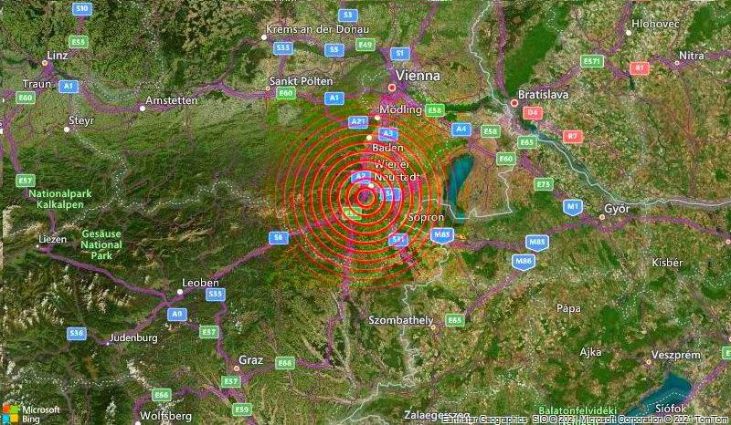 Terremoto Austria: scossa nel sud est. Paura a Vienna e in Ungheria