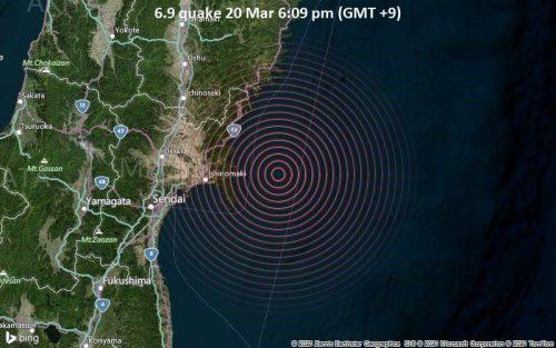 Terremoto Giappone: scossa di 7.1 gradi. Si teme tsunami sulle coste di Miyagi