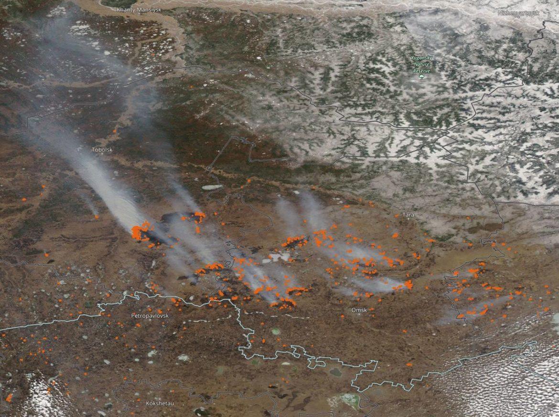 Siberia: dal satellite visibili i primi incendi della stagione
