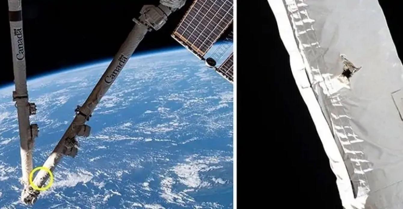 Stazione Spaziale Internazionale colpita da un detrito: si forma un buco nel Canadarm2