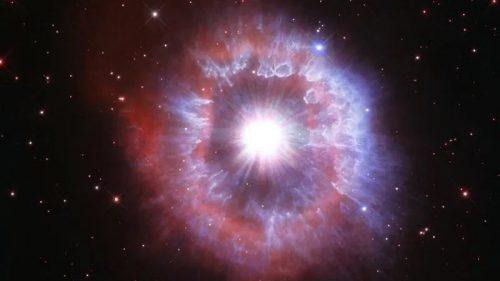Hubble immortala AG Carinae, la stella circondata da un guscio di gas