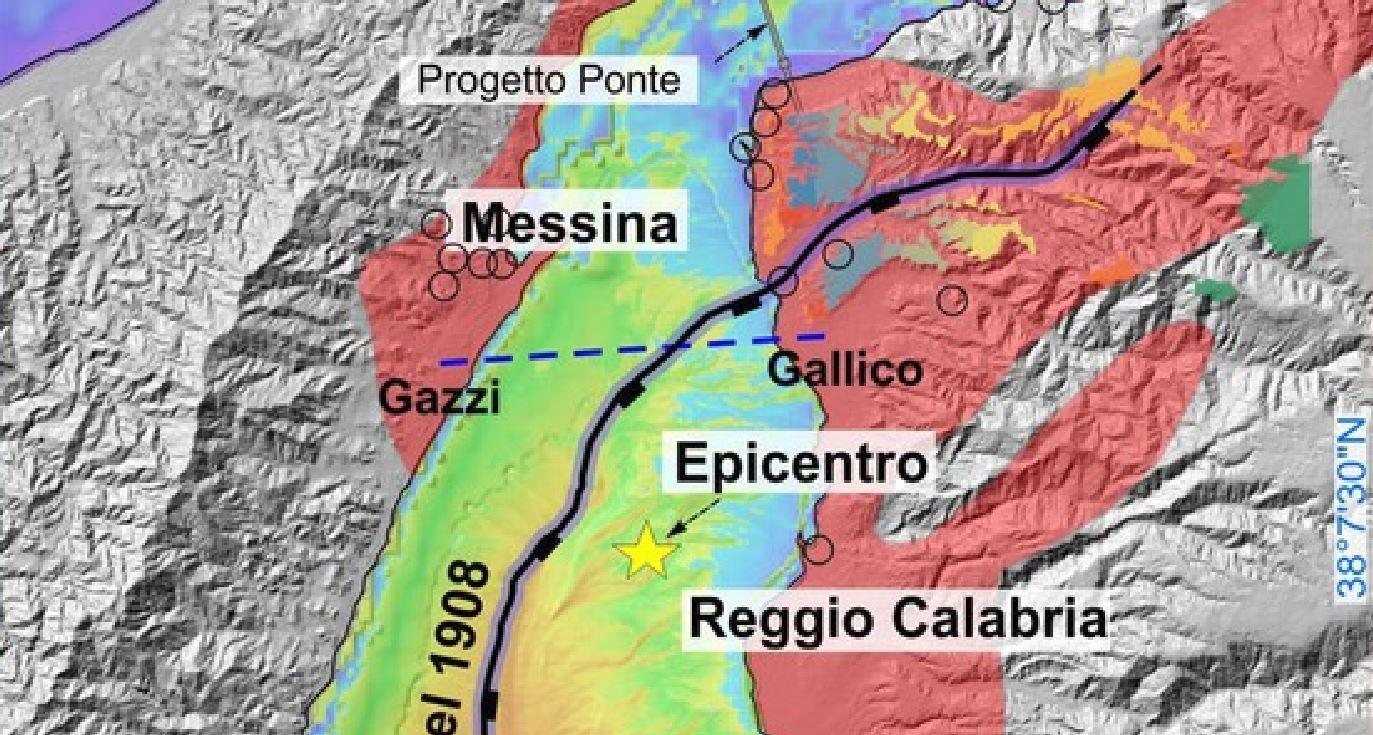 Stretto di Messina: scoperta la faglia che provocò il catastrofico terremoto M 7.1 con tsunami